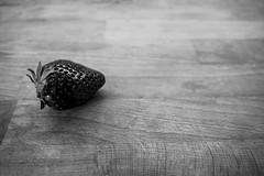 83/366 - Sweet (chesilu) Tags: blackandwhite bw stilllife monochrome fruit strawberry sweet day83366 366the2016edition 3662016 23mar16
