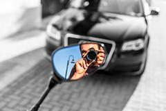 M I R R O R  S E L F  S H O T (wildbam25) Tags: light white black color car 50mm mirror bokeh spiegel sony yamaha a3 audi speedmaster farbe f95 a7 kamera selfie xj6 a7ii mitakon a7r zhongy a7r2