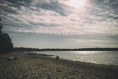 Waiting for a summer... (BigWhitePelican) Tags: sky sun beach clouds finland helsinki april 2016 canoneos7d adobelightroom4