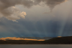 Sun Rays Last Night (Jeffrey Sullivan) Tags: california county copyright usa sun lake jeff weather canon photography photo cloudy may sierra rays sullivan douglas eastern topaz anticrepuscular 2016 gardnerville monocounty 5dmarkiii
