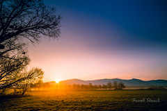 Sunstar over the mountains (strack_frank) Tags: sky tree landscape outdoor feld himmel samsung fields landschaft sonnenaufgang schwarzwald blackforest baum gegenlicht sunstar morgenlicht sonnenstern nx30