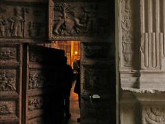 entrando in chiesa (ludi_ste) Tags: door wood light porta luce abruzzo legno intaglio portale calascio venerdsanto bellabruzzo