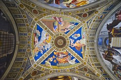 celing - vatican museum, rome (The world is my canvas) Tags: italy vatican rome color art europe angels vaticanmuseum d800 thevatican vaticancity renaissanceart ceilingart paintedceiling nikonwideangle ceilingvatican nikkor1224mmf28 d800e