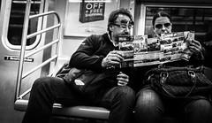 Tourists (Henka69) Tags: street nyc newyork monochrome subway metro candid tourists streetphoto newyorkstreet