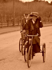 Tricycle (Colin McLurg) Tags: uk england vintage costume tricycle beamish period cycles periodcostume beamishmuseum colinmclurg
