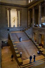 Main Hall, Philadelphia Museum of Art, April 30, 2016 (Maggie Osterberg) Tags: philadelphia pennsylvania staircase gr ricoh philadelphiamuseumofart maggieo colorefexpro4 183mmf28
