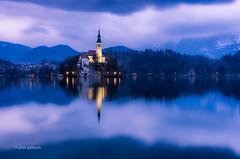 Lake Bled Blues (pietkagab) Tags: longexposure trip travel water night island photography europe pentax adventure bled k5 lakebled pentaxk5ii pietkagab piotrgaborek