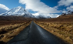 Road to hell (valdi-) Tags: road travel winter snow mountains scotland highlands moody picture glencoe nikond7100