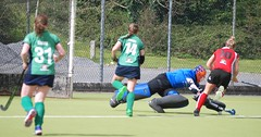 A first half diving save by Greenfields keeper Sinead to capture and clear the ball for Greenfields (Greenfields Hockey Club) Tags: hockey cork connacht quins harlequins greenfields dangan ihl irishhockeyleague greenfieldshockeyclub irishhockey connachthockey hockeygalway corkharlequins