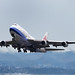 China Airlines Boeing 747-400 departing KIX (B-18208)