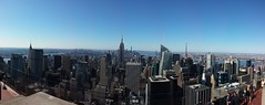 Top of the Rock, overlooking the Empire State Bldg (HIGDON FAMILY) Tags: new york city nyc newyork rock center 30rock rockafeller rockafellercenter 2016