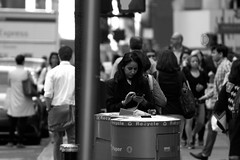 Always Recycle your waste & Be Safe Tho (Chrissy Tha Black) Tags: street new york city nyc morning light portrait blackandwhite bw streets art home monochrome st work canon square creativity 50mm evening shots outdoor manhattan low 34thstreet streetphotography going 300mm midtown explore busy rush hour daytime times activity highlight unexpected 34th attractions springtime artistry offguard yakubs