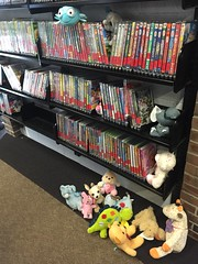Let's pick out a movie! (scotchplainspubliclibrary) Tags: animal stuffed sleepover scotchplains scotchplainspubliclibrary