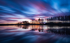 Reflections two (jarnasen) Tags: longexposure trees sunset sky copyright color nature water clouds reflections landscape evening nikon cloudy sweden outdoor dusk tripod explore le sverige colourful nikkor scandinavia treeline stergtland ndfilter explored d810 leefilters nd10 bigstopper 1635mmf4 jarnasen mjlorpsjn