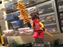 Gyro skewer of death! (Vedauwoo) Tags: death lego ninja skewer gyro minifigure cowlug ninjago denlug