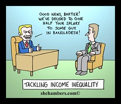 doing the right thing (s.h. chambers) Tags: comic cartoon income inequality shchambers shchamberscom