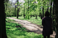 Park (Frostroomhead) Tags: park green art nature girl leaves nikon f14 sigma 30mm d5200