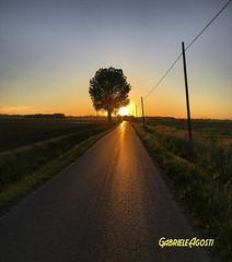 Spring time (Gabriel#17) Tags: sunset primavera landscape spring tramonti piacenza iphone6s