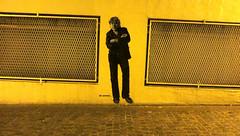 Duh (Robert Saucier) Tags: street streetart paris wall night sticker nightshot pavement noflash sidewalk arno mur nuit butteauxcailles trottoir 13e xiii xiiie jefaerosol 13earrondissement img7651