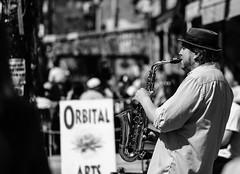 Street performer (Howard Yang Photography) Tags: musician toronto streetphotography streetperformer kensingtonmarket sax saxophone acros xf56mm fujifilmxpro2