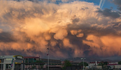 Albuquerque mammatus, 4.23.16 (amyMhowardphoto) Tags: sunset sky storm newmexico weather clouds canon golden spring albuquerque abq nm storms cloudporn wx updraft mammatus aprilshowers microburst springstorm virga stormcell sunsetstorm nmskies skyofapocalypse cloudstructure nmsunset stormstructure nmspring drymicroburst abqsunset nmwx april2016 spring2016 abqwx nmstorms abqnws