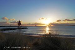 Herd Groyne South Shields (Keith Tilmouth) Tags: morning sea sunrise river dawn coast south magic north tyne wear coastal coastline hours serene groyne herd shields