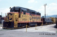 B&O 6908 on 6-30-78 (C.W. Lahickey) Tags: maryland bo cumberland emd gp30