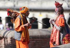 Sadhu enjoying his first smoke of the morning (arjayempee) Tags: sādhu av6a0121crop