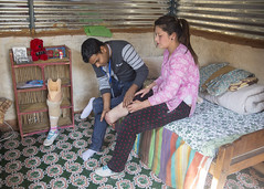 After some initial treatment Uma began to spend most of her time at home (Handicap International UK) Tags: nepal earthquake uma kathmandu survivors disability silwal