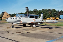 """T-33A 53-5854 ex 136th FIS New York-ANG """"Niagara-Falls"""" USAF. Preserved with the Glenn-L.-Martin Museum, Baltimore Martin-State airport, Maryland. 22-09-2000. (Aircraft throughout the years) Tags: ny museum niagarafalls airport maryland baltimore preserved lockheed usaf tbird shootingstar glennlmartin 136thfis t33a newyorkang martinstate 535854 36fis"""