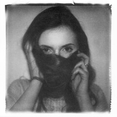 -O- (Mikah_Manansala) Tags: portrait art film monochrome polaroid sx70 lift fine ishootfilm instant impossible ilovefilm filmforever