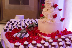 The Cake (amandamaier) Tags: flowers wedding roses white cake cupcakes details layers frosting layered