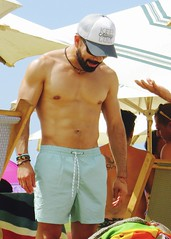 IMG_0917 (danimaniacs) Tags: shirtless man hot sexy guy hat beard mexico muscle muscular hunk jewelry cap puertovallarta stud scruff
