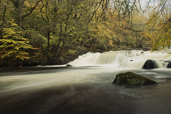 My Shadow (Swebbatron) Tags: longexposure autumn fall canon river landscape stream devon dartmoor riverteign salmonleap chagford teign drewsteignton castledrogo radlab 1100d gettotallyrad