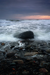 Stone sunset (Nik13042) Tags: sunset wales north porth 1855mm ceiriad a6000 emount