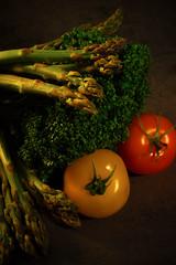 Vegetables are the new Black (lucifercavaleri) Tags: food composition studio vegan tomatoes vegetable foodies foodporn veggie lowkey tabletop lgumes naturemorte strobism
