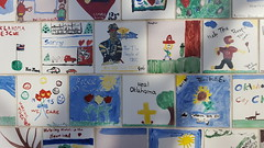 Tiles hand-painted by children from around the country