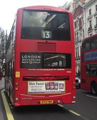 London Sovereign VH12 on route 13 Oxford street 03/02/16. (Ledlon89) Tags: bus london buses transport londonbus tfl londonbuses centrallondon