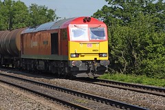 60024 on a fuel train working from Robeston passes St. George's (Alastair1981) Tags: stgeorges dbs class60 60024 dbschenker robeston fueltrain