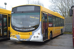 Trent Barton 742 FJ09XPA (Will Swain) Tags: uk travel england bus english mill buses yard britain derbyshire garage transport january vehicles trent vehicle depot barton 24th langley nottinghamshire 742 2016 bartons wellglade fj09xpa