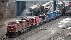 Making Trains (Conrail1978) Tags: santa railroad burlington yard train am pacific ns norfolk central maine engine loco canadian bn southern pa pan fe cp soo northern ge cr mec unit enola conrail 3360 1867 emd cefx sd402 atsf gp402 3400 sd60 3143 3470 6039 ac44cw 6239 7215 8517 3046 sd40m2