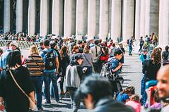 Basilica di San Pietro in Vaticano (Paula.HK) Tags: portrait people italy vatican film photoshop vintage 50mm nikon europe vaticano    tavel lightroom   piazzasanpietro       vsco
