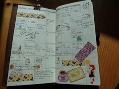 Journaling in my MTN (3) (Under An English Sky) Tags: journal midori travelersnotebook midoritravelersnotebook