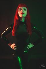 Carla Uyn (rubenfcid) Tags: woman girl lady studio model femme vinyl redhead heels latex redhair lowkey gels harleyquinn redhaired colourlights carlauyn blackwiwow
