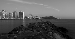 Diamond Head in the distance. (Dtek1701) Tags: travel water outside island hawaii rocks fuji waikiki outdoor jetty tripod diamondhead fujifilm honolulu fujinon xseries apsc xt1 fujix mirrorless benrotripod xmount xflens xtranssensor pistolgripballhead 18135oiswr