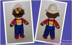 Ganchillo Amigurumi Barrio Sesamo Don Pimpon Collage con Marca de Agua (maryjoecraft) Tags: crochet sesamestreet amigurumi barriosesamo ganchillo
