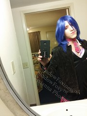 Schoolgirl Punk 55 (ShadowFoxiness) Tags: punk feminine cd crossdressing tgirl transgender schoolgirl bluehair crossdresser crossdress tg