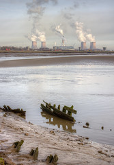 Spike island 01 HD jan 16 (Shaun the grime lover) Tags: water station ferry river boat wooden industrial power ruin wreck hdr mersey fiddlers mudflat merseyside widnes spikeisland