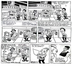 The Barnacle Twin - Comic Strip 0023 (Brechtbug) Tags: new york city nyc urban musician holiday cinema news film halloween fog tom pen ink comics paper movie fire newspaper october theater comic theatre thomas films board smoke rip cartoon twin funnies ground flute strip presents comix movies theaters without cartoons barnacle hover brecht hoverboard the 2016 gadfly aiello a brechtbug 01102016