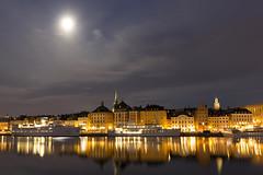 Gamla Stan mnsken Stockholm (Stefan Sjogren) Tags: old city sea ferry architecture town sweden stockholm harbour ships baltic stan stad stersjn moonshine gamla skeppsbron uppland